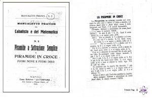 Manualetto pratico del Cabalista e del matematico Piramide a sottrazione semlice Il cabalista